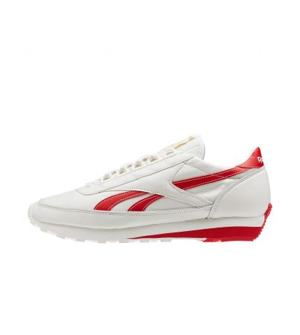 Aztec Leather White Red