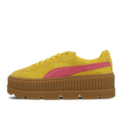 Fenty Cleated Creeper Suede-YellowPink