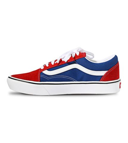 Ua Comfycush Old Skool Two Tone Chili Pepper/True Blue